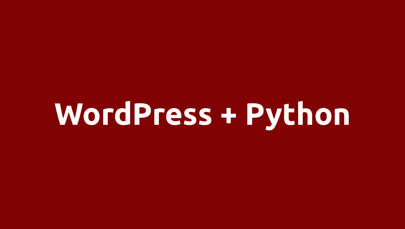 Wordpress/Python integration
