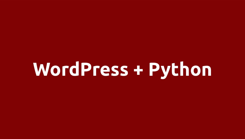 Wordpress/Python integration